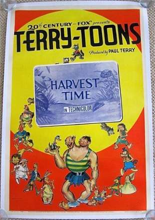 Harvest Time '40 LB 1 SH Poster Paul Terry's