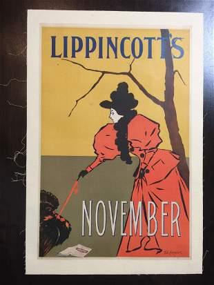 Lippincott's Cover - Art by Will Carqueville (Nov.