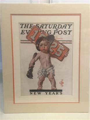 The Saturday Evening Post - Art by JC Leyendecker (x4)