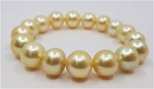 11x13mm South Sea Pearls Champagne Gold - Bracelet