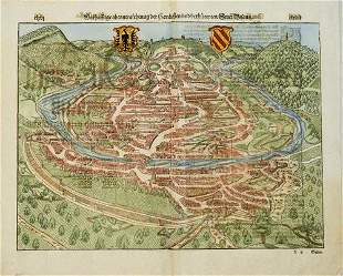 1598 Munster View of Besancon, France -- [Die Statt
