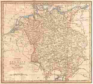 New Map of Germany Divided Into Circles from the Best