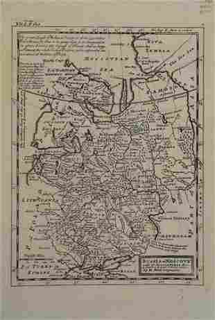 1745 Moll Map of European Russia -- Russia or Moscovy