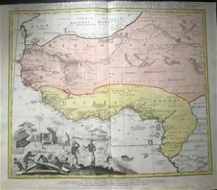 West Africa 1762 by Homann Heirs