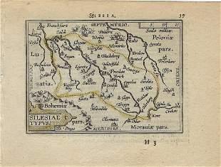 1602 Ortelius Map of Silesia, Southern Poland --