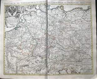Postal routes of the Holy Roman Empire. 1762 by Homann