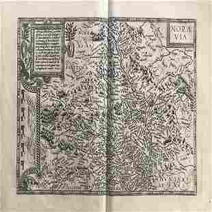 RARE map of Moravia (Slovakia)