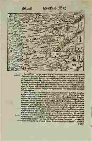 1598 Munster Map of Asia Minor / Turkey -- [Asia Minor]