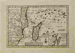 1740 Moll Map of Southeast Africa and Madagascar -- The