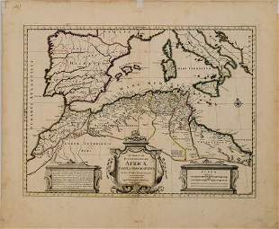 1730 Covens & Mortier Map of North Coast of Africa and