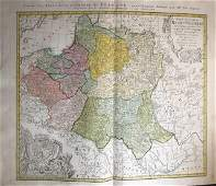 Kingdom of Poland-Lithuania. 1762 by Homann Heirs
