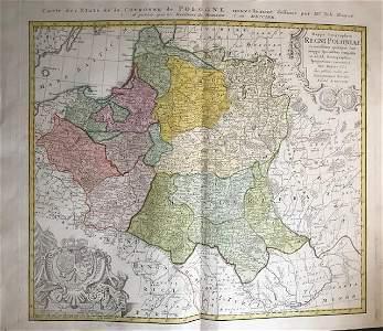 Kingdom of Poland-Lithuania. 1762 by Homann Heirs
