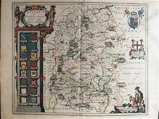 Wiltshire county England. By The Blaeu family