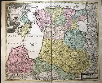 The Baltic states. Latvia, Lithuania and Estonia. 1762
