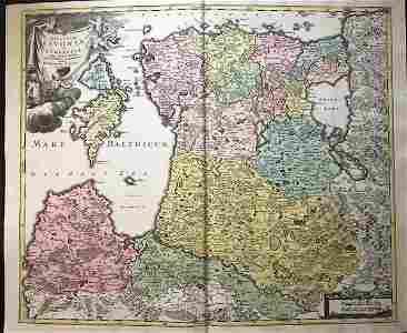 The Baltic states. Latvia, Lithuania and Estonia. 1762
