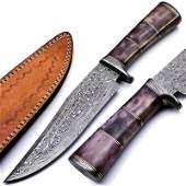 Damascus steel knife exclusive pattern hunting survival
