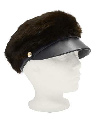 Anonymous Bonwit Teller Mink and Leather Cap