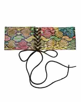 Yves Saint Laurent Multi-color Lace-up Belt