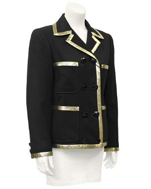 Valentino Black Jacket with Gold Lurex Trim