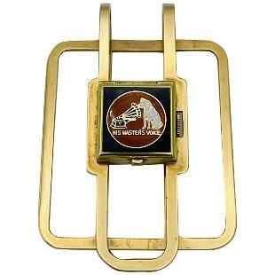 1950s J.E. Caldwell & Co. 14K Yellow Gold & Enamel