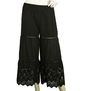 Twin Set Simona Barbieri Black Cropped Pants 100%