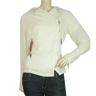 Armani Jeans White Polyamide Lightweight Casual Jacket