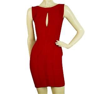 Herve Leroux Red Bandage Bodycon Mini length Dress