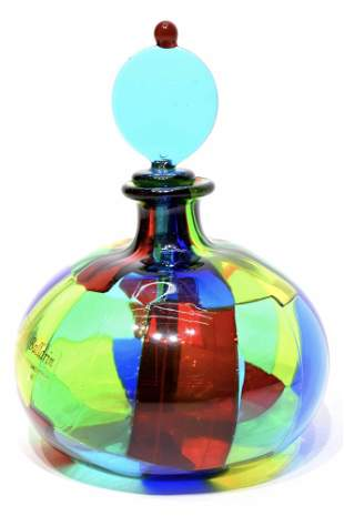 Murano glass Bottle pezzato