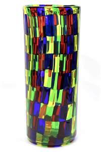 Murano Glass vaso pezzato Signed