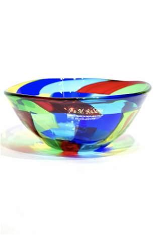 Murano glass Cup pezzato signed