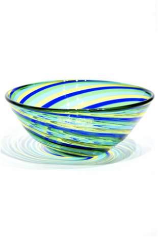 Murano glass Cup filigrana signed