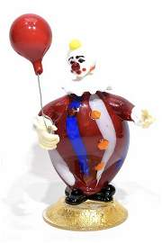 Murano glass clown sculpture