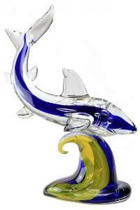 """Murano glass sculpture """" Shark """""""