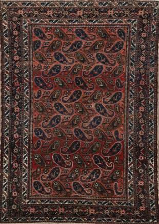 Antique Paisley Bakhtiari Persian Area Rug 4x6