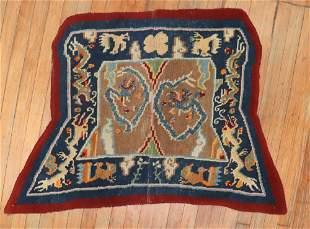 Tibetan Dragon Horse Cover Textile Rug