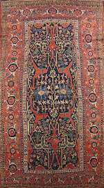 Pre-1900 Antique Bidjar Vegetable Dye Persian Area Rug