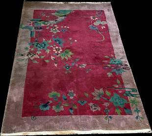 A Gorgeous Antique Art Deco Chinese Rug