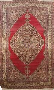 Pre-1900 Antique Kerman Persian Area Rug 14x22 Large