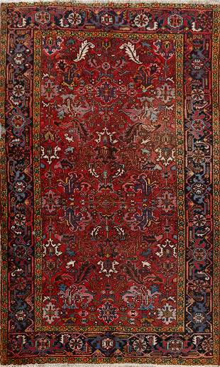 Antique Heriz Persian Area Rug 7x10
