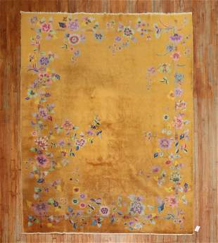 Antique Mango Chinese Art Deco Room Size Rug