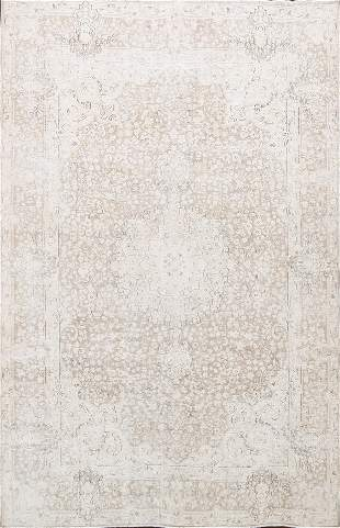 Antique Muted Kerman Persian Area Rug 7x9