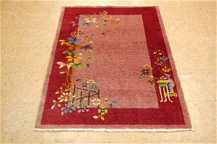Circa 1920s ANTIQUE ART DECO WALTER NICHOLS CHINESE RUG