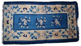 Handmade antique Peking Chinese rug 2' x 3.7' ( 61cm x