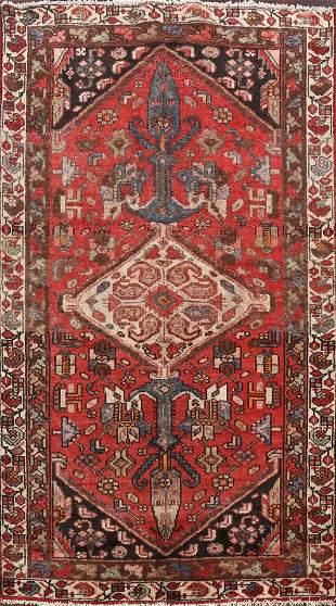 Antique Geometric Malayer Persian Area Rug 4x6