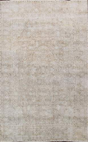 Antique Muted Distressed Kerman Persian Area Rug 9x12