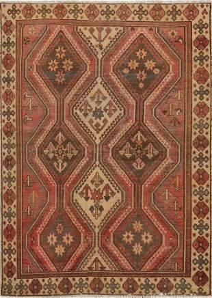 Antique Bakhtiari Persian Area Rug 5x7