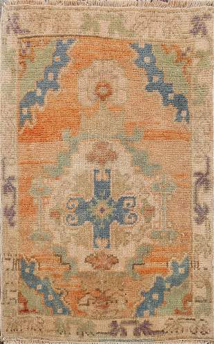 Antique Muted Authentic Oushak Turkish Area Rug 2x3