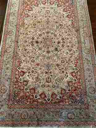 Semi Antique Hand Woven Persian Qum Silk 5x7 ft