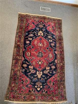 Semi Antique Hand Woven Persian Lilihan 6.3x3x5 ft