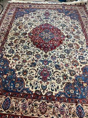 Semi Antique Hand Woven Persian Tabriz 9x12 ft